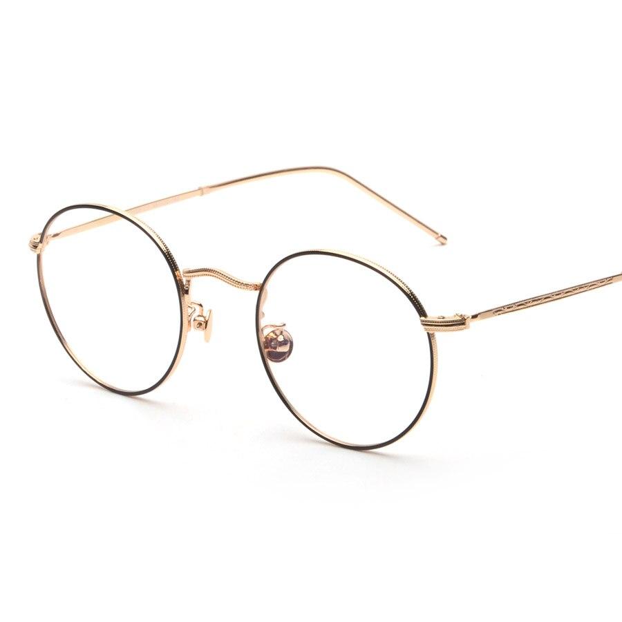 04ac99cf6 New Vintage Round Glasses Frames Women Metal Gold Frame Glasses Men Nerd  Glasses For Computer Clear Lens Glasses Gafas de vista-in Men's Eyewear  Frames from ...