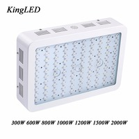 King Plus 1000W Double Chips LED Grow Light Full Spectrum 410 730nm For Indoor Plants And