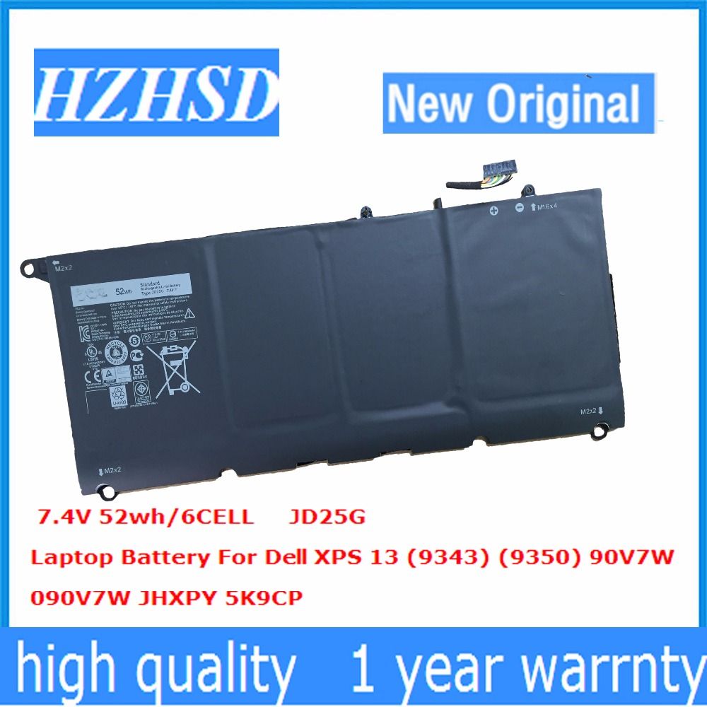 7.4V 52Wh New Original JD25G Laptop Battery for Dell XPS13-9343 XPS13 9350 90V7W DIN02 P54G7.4V 52Wh New Original JD25G Laptop Battery for Dell XPS13-9343 XPS13 9350 90V7W DIN02 P54G