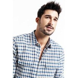 Image 2 - SIMWOOD dorywczo koszula mężczyzn marki pościel 2020 wiosna moda Streetwear z długim rękawem kratę koszule męskie Camisa Masculina 190174