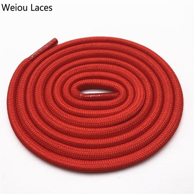 Weiou 0,5 см круглые спортивные шнурки из полиэстера толстые походные шнурки одежда веревка для скалолазания шнурки для ботинок Детские мужские