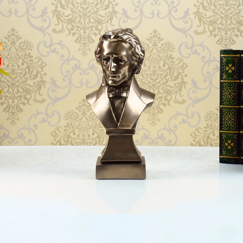 Fryderyk Franciszek Chopin Bust Statue Romantic Music Resin Craftwork Office Hotel Clubhouse Living Room Decoration Gift L2572Fryderyk Franciszek Chopin Bust Statue Romantic Music Resin Craftwork Office Hotel Clubhouse Living Room Decoration Gift L2572