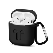 1000pcs Soft Silicone Protection Case Cover for Apple Airpods charging case Portable Slim Cases with Keychain air Pods hang bag