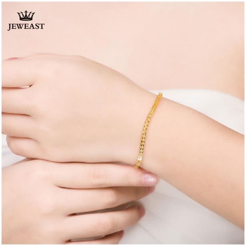 18 k puur goud vrouwen armband gele roos meisje echte echte solide - Fijne sieraden - Foto 4