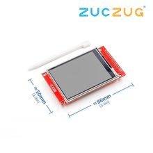 "240x320 2,8 ""SPI TFT LCD Touch Panel Serial Port Modul Mit PBC ILI9341 2,8 Zoll SPI Serielle weiß LED Display mit Touch Stift(China)"