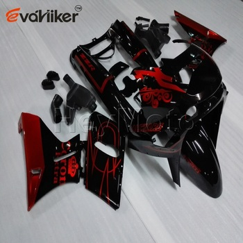 ABS Plastic fairing for ZZR400 1993-2007 ZZR 400 93 94 95 96 97 98 99 00 01 02 03Bolts+Painted red black Injection mold H2