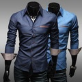 2017  Fashion Men's  Long Sleeved Turn-down Collar  Oxford Cotton  Single Breasted Slim Cool Men Clothes Casual Shirt  CM