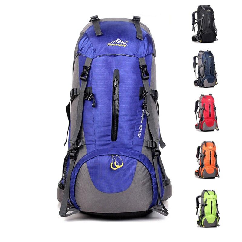Camping Backpacks 50L Climbing Sport Bag Waterproof Rucksack Hiking Men Travel Mountain Backpack Rain Cover Outdoor