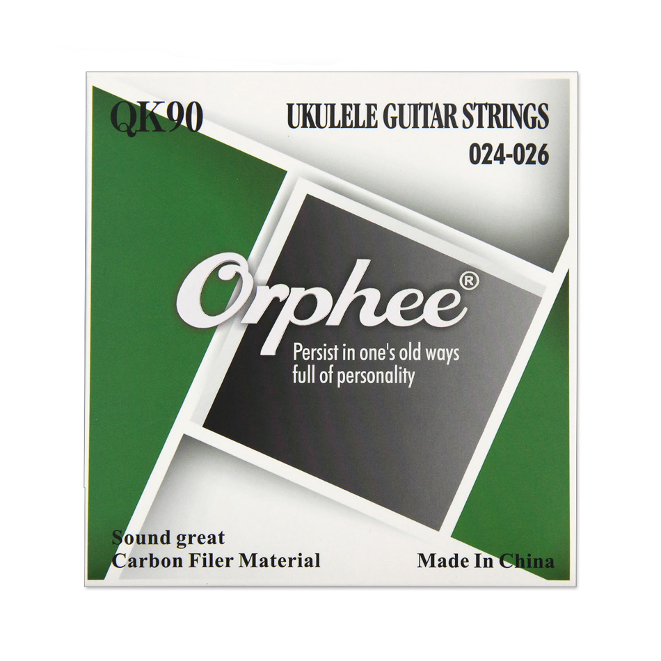 Orphee QK90 Professional Full Set Clear Nylon White Carbon Fiber Ukulele Strings for Soprano Concert Tenor soprano concert tenor ukulele bag case backpack read item description carefully separate to buy this product is only one bag