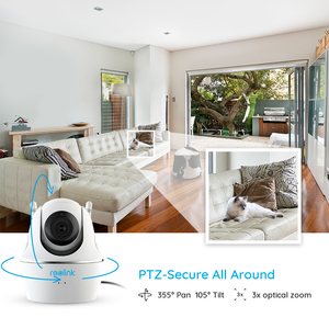 Image 3 - Reolink C2 Pro 5MP Pan/Tilt 3x Optical Zoom 2.4G/5G WiFi Camera White Baby Monitor Indoor IP Camera Home Security