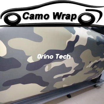 Black Grey Green Camouflage Vinyl Film Car Wrap Motorcycle Skateboard Car Truck Decal Camo Film Foil Wrapping With Air Drain