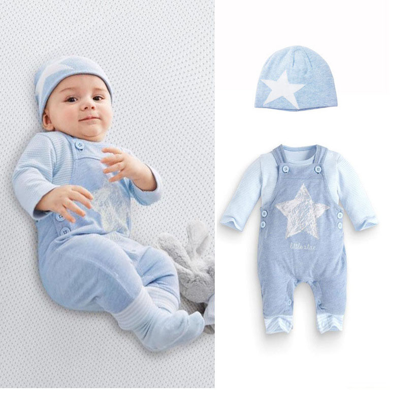 Toddler Boy Clothing Fahion T Shirt And Baby Overalls Spring Newborn Clothing Set Enfants Spring Cotton