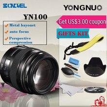 Yongnuo yn100mm f2 médio telefoto prime lens para a canon eos rebel câmera af mf