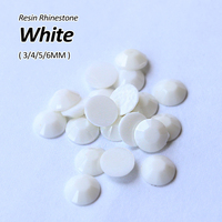 White Resin Rhinestone 3mm 4mm 5mm 6mm Nail Art Rhinestone Use For DIY Accessories