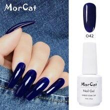 MorCat Gel Nail Polish 15ml Deep Blue Color UV Lacquer Varnish Art Vernis Semi Permanent