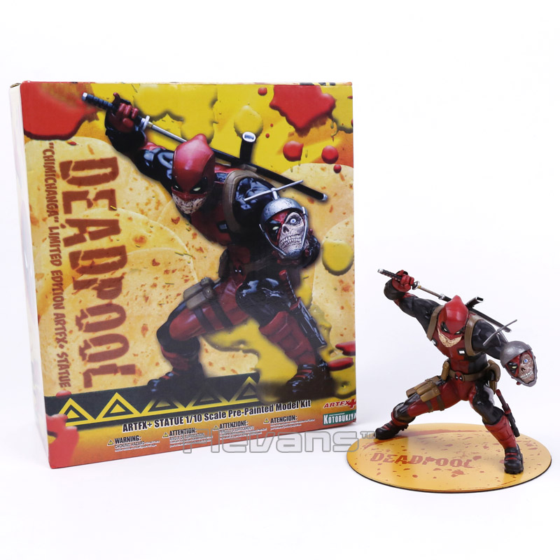 Deadpool CHIMICHANGALimited Edition Artfx + Statue 1/10 Scale Pre-Painted Figure Model Kit red/grey Boxed bronco model 1 35 scale military models cb35020 german land wasser schlepper lws limited edition plastic model kit