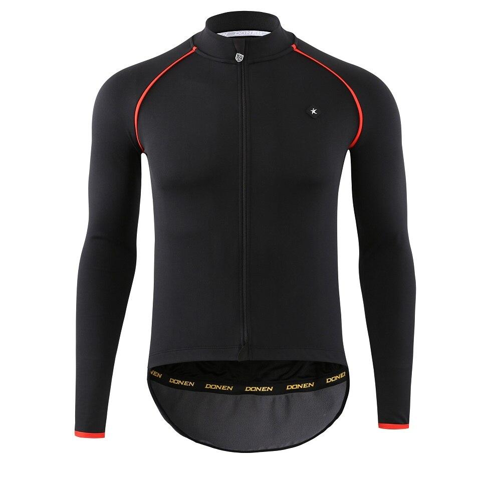 DONEN Spring Autumn Winter Black soft shell Thickening Men Cycling Jackets Cycling Windproof Jacket Coat Keep Warm Bike Cycling mens cycling cycling windproof bike cycle - title=