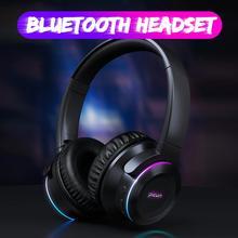 Новый Picun B9 Беспроводной Bluetooth наушники гарнитура со светодиодной вставкой на ощупь Управление складной регулируемый наушники с микрофоном/TF карта для телефона