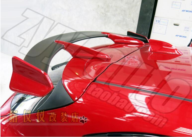 abs primter abs car rear wing trunk spoiler for mazda 3 m3. Black Bedroom Furniture Sets. Home Design Ideas