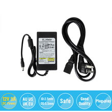 Europe US UK High Quality Universial AC For DC 12V 5A 60W Power Supply Charger Adaptor For CCTV Camera Free Shipping
