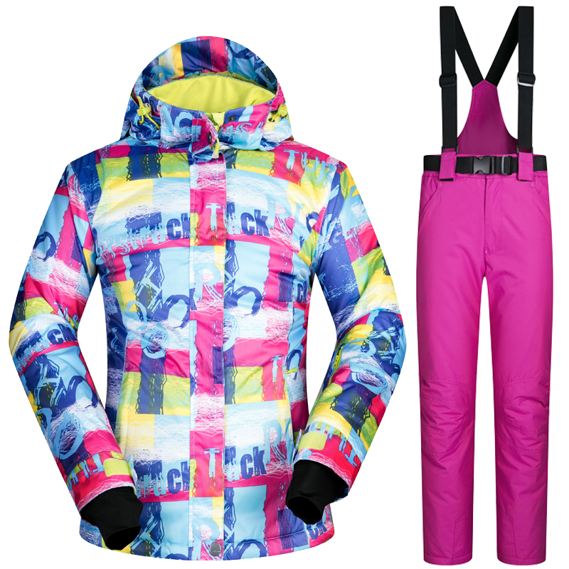 New Winter Ski Suit Women Outdoor Thermal Waterproof Windproof Snowboard Jackets Pants Climbing Snow Skiing Clothes Set Brand winter women snow suit waterproof windproof femal ski suit set snowboard jacket and pants skiing clothing outdoor costume
