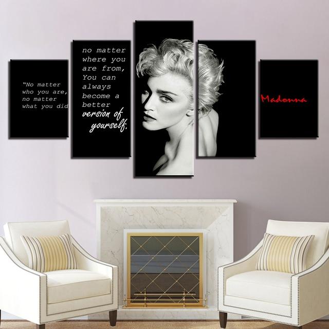 2017 JIE DO ART Decor Canvas Modular Picture 5 Panel Singer Marilyn ...