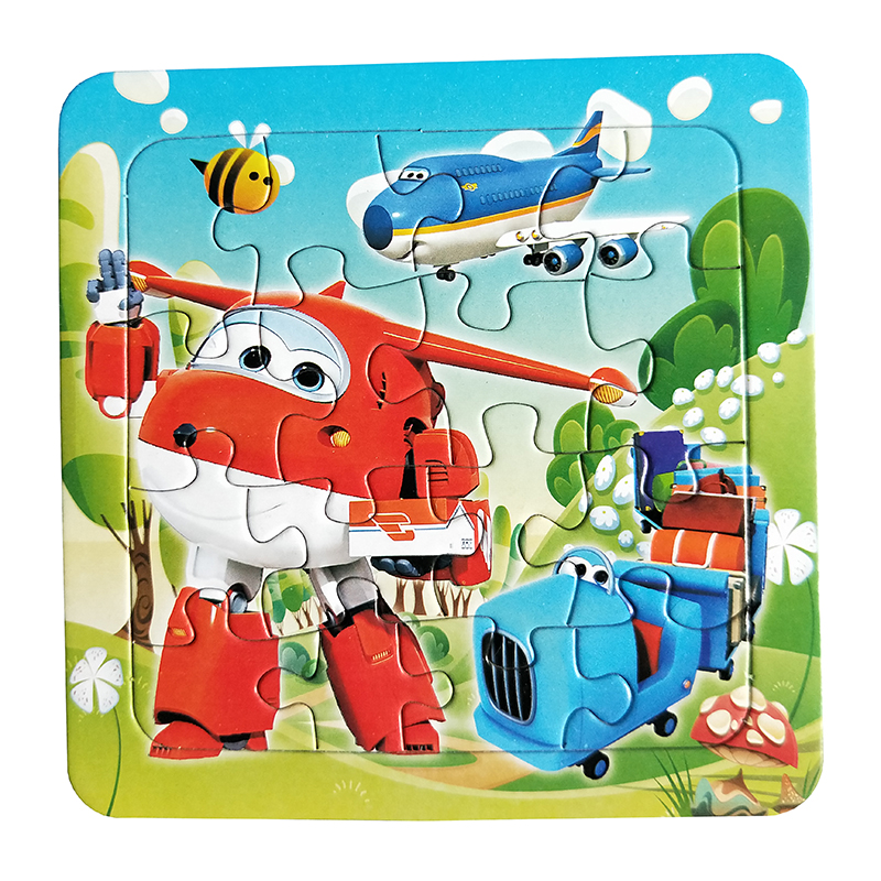 Image 3 - Puzzles Famous Cartoon Super Wings Educational Toy for Children for Baby 16 PCS Puzzle Game Free Shipping Kid Toys-in Puzzles from Toys & Hobbies