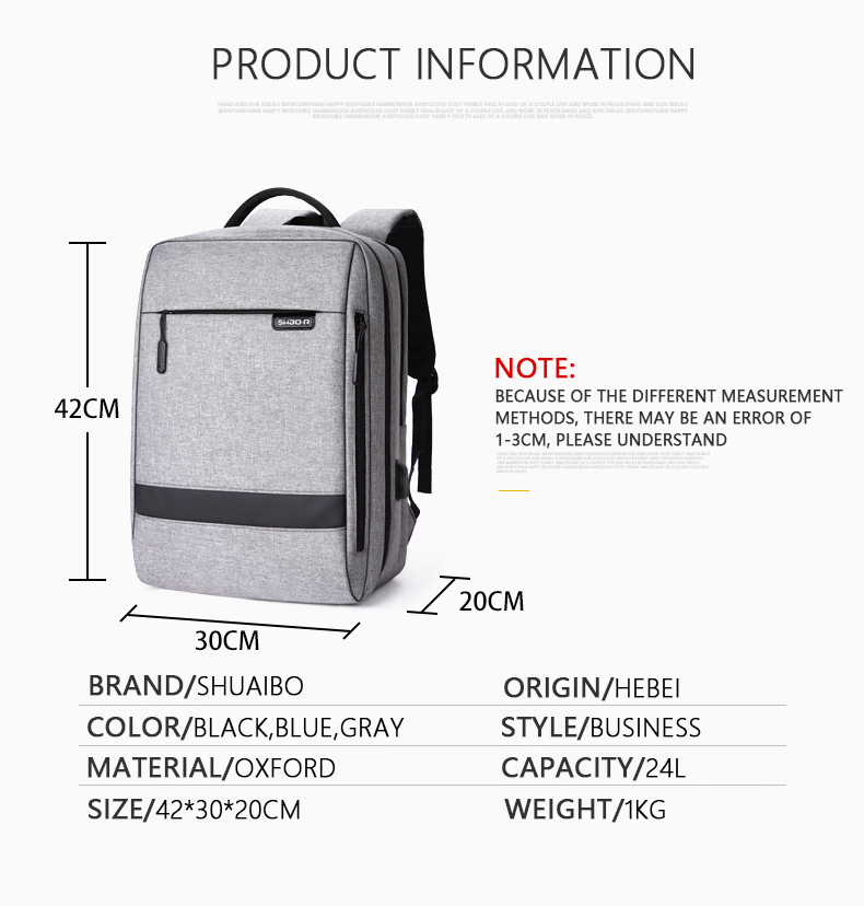 HTB1J5rxaznuK1RkSmFPq6AuzFXaX - Mens Casual USB Charging Work Backpack Large Space Short Trip Male Waterproof