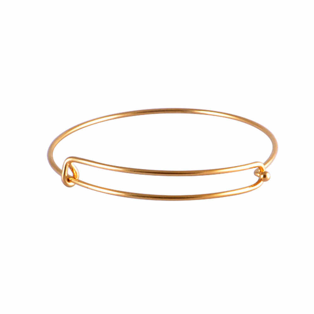 70fdd39961ee8 10pcs/lot Gold Color Rose Gold Color Steel Wire Bangle Children Adult Size  50mm 55mm 60mm 65mm Never Fade Women Cuff Bracelet