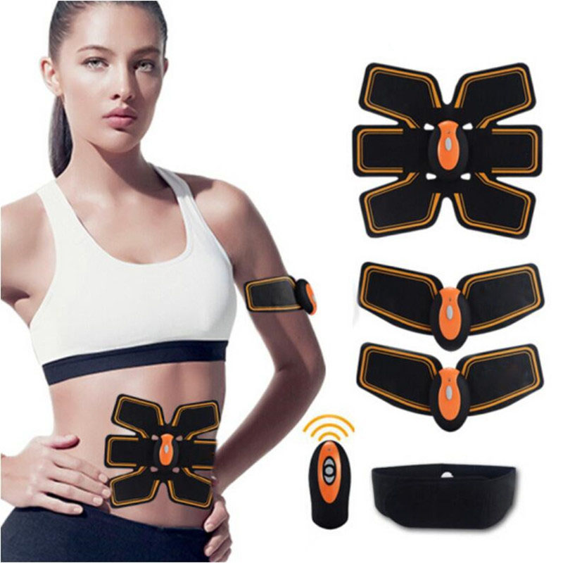 Electric Smart EMS Abdominal Muscle Messenger Fitness Exercise Wireless Sports Muscle Stimulator Fitness Stimulator Massager 30 herbal muscle