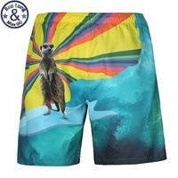 Bán buôn New Men của Board Shorts Bãi Biển Thương Hiệu Shorts Bermudas Masculina de marca Men Boardshorts 3D Động Vật In