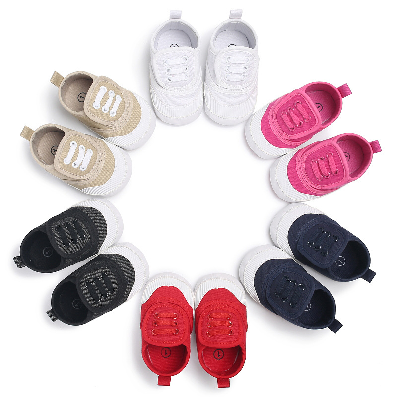 Fashion Toddler Newborn Shoes Baby Boy Sports Sneakers Soft Bottom Anti-slip hook & loop First Walkers Prewalker Canvas shoes