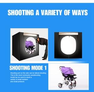 Image 3 - CY boîte à lumière + gradateur, boîte à photographie Portable, Soft box avec Studio de Photo, 120*100 CM
