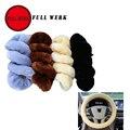 FULL WERK Car Auto Universal plush material breathable flexible Steering Wheel Cover suitable for 38cm diameter anti-slip