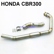 CBR 300 Link Pipe Stainless Steel Motorcycle Motorbike Exhaust Muffler Pipe Connector Link Pipe for CBR 300 Whole Set