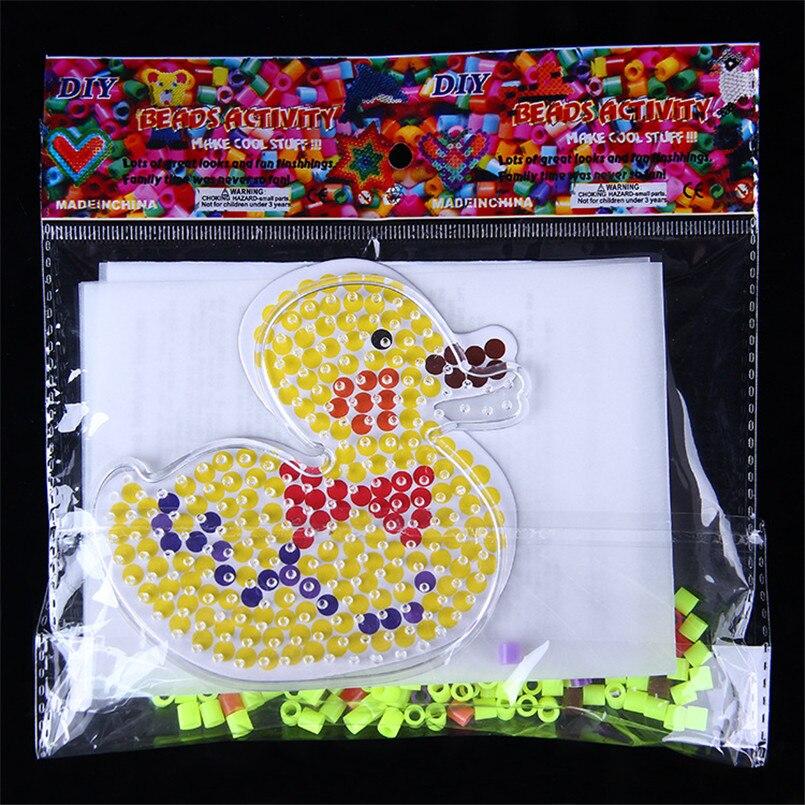 Abbyfrank Hama Beads Template Set Perler Iron Beads DIY Transparent Animal Shape Puzzle Pegboard Educational Craft