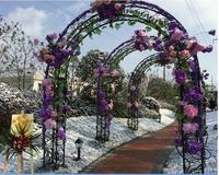 European style iron art arch frame lawn wedding flowers climbing vine flower frame Korean style flower door new style wedding .