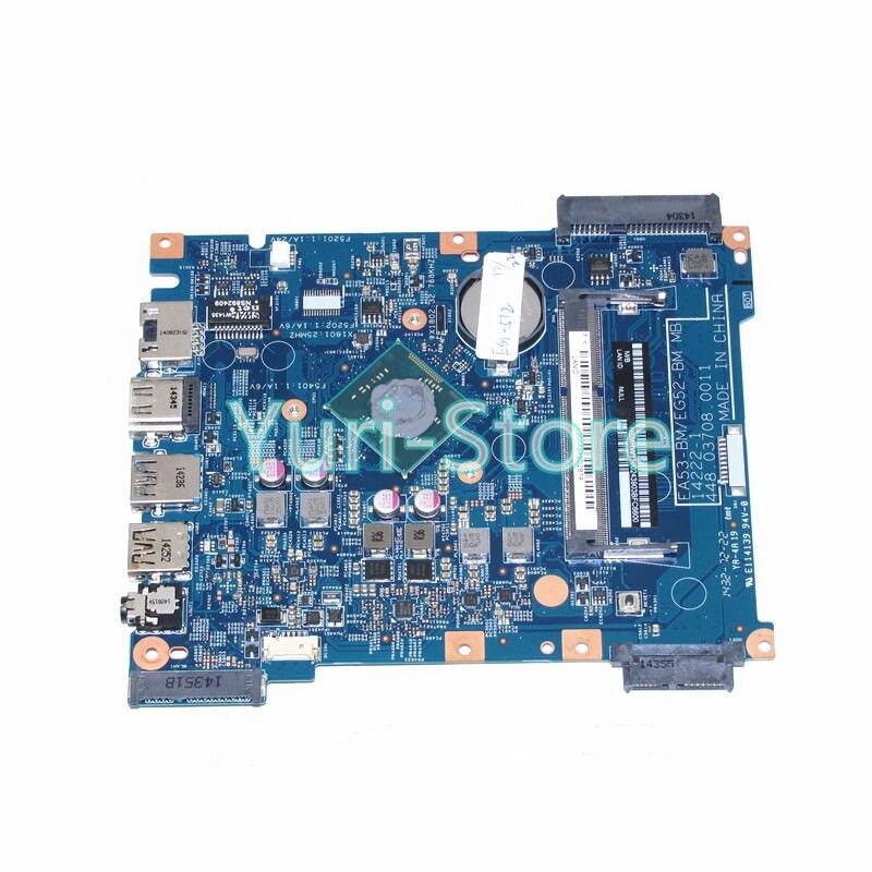 NOKOTION laptop For Acer aspire ES1-512 EA53-BM EG52-BM MB 14222-1 448.03708.0011 NBMRW11002 NB.MRW11.002 SR1YJ N2840 CPU nokotion nbmrw01003 for acer aspire es1 512 laptop motherboard ea53 bm eg52 bm mb 14222 1 448 03703 0011 sr1yv n2940 cpu ddr3l