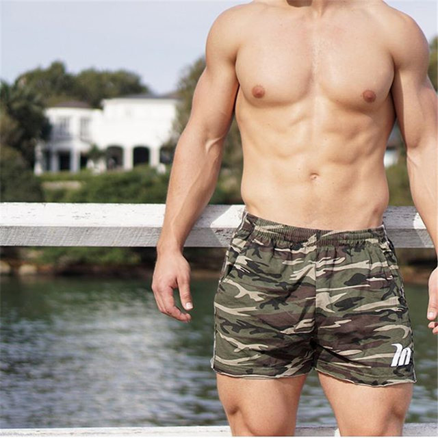 Camouflage Shorts low waist men casual Trunks  1