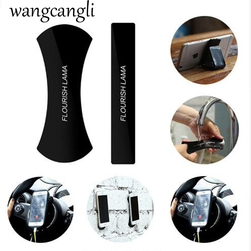 Wangcangli  Universal Mobile Phone Holder Premium Durable Washable Cell Phone Pads Sticky Anti-Slip Gel Pads Stand For Stick