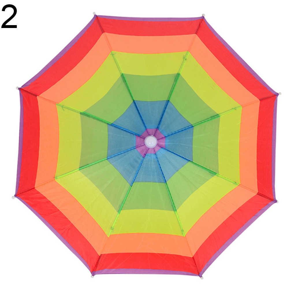 Zomer Strand Opvouwbare Hoofddeksels Anti-ultraviolet Schaduw Kinderen Hoofd Paraplu hoed voor baby kids zomer vakantie