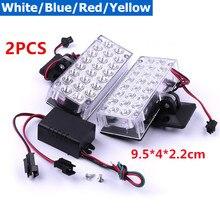 Waterproof Pair 12V Car Lights 2X22 LED Flash Strobe Grill Dash 9 5x4x2 2 cm Warning