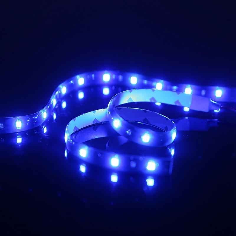4Pcs/Set 30cm 3528 Flexible Blue Strips Light 15SMD LED Decorative Lamp For House Indoor Car LED Tube Lights Waterproof