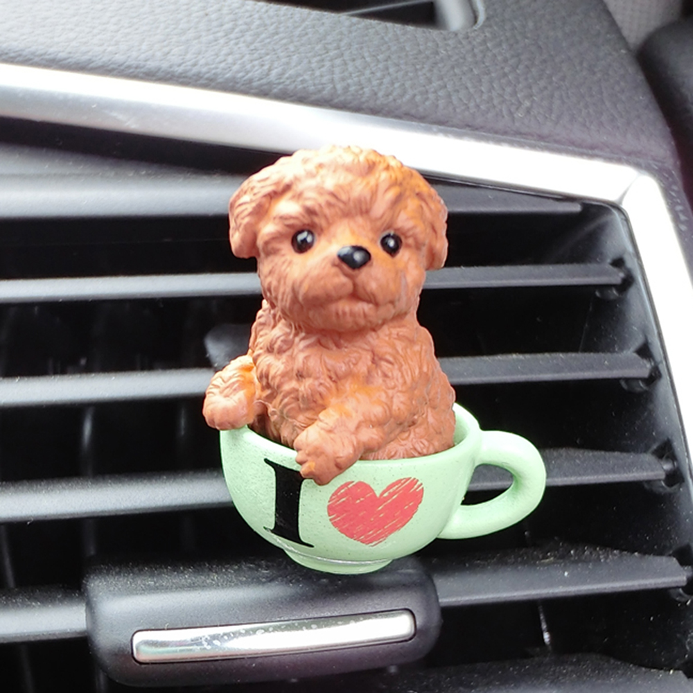 Car Perfume Clip Simulation Dog Fragrance Air Vent Freshener Auto Interior Outlet Decoration Children Gift Accessory Car-styling
