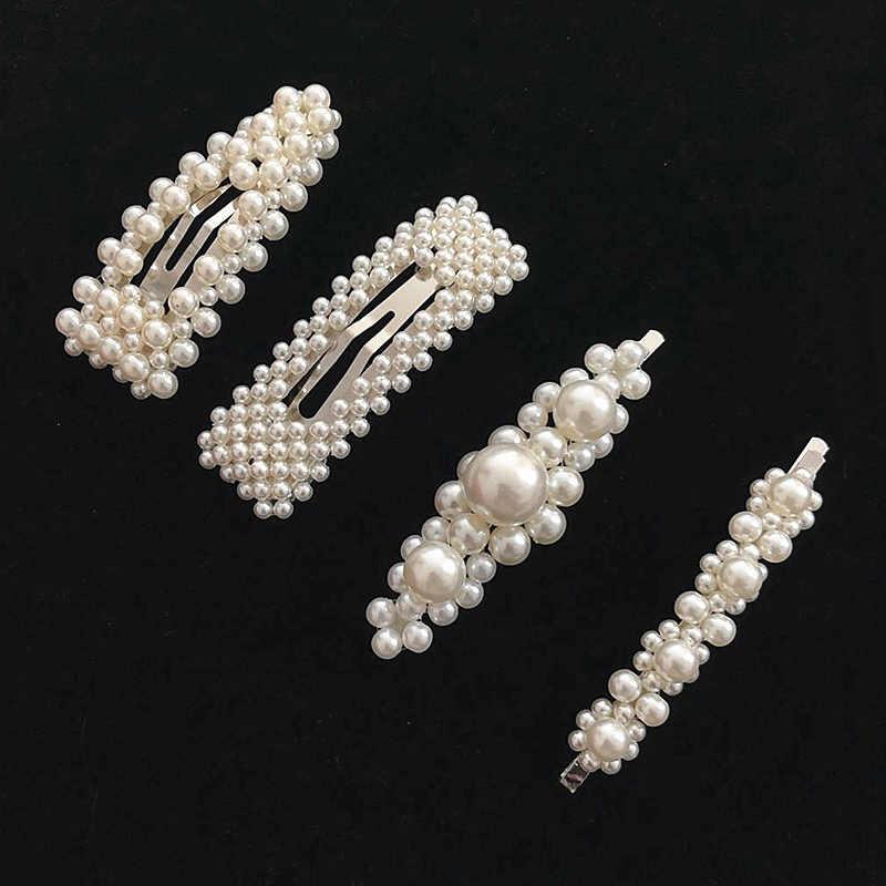 Женские модные шпильки с жемчугом корейский дизайн заколки для волос Сплав Длинные заколки для волос аксессуары для волос заколки-крабы