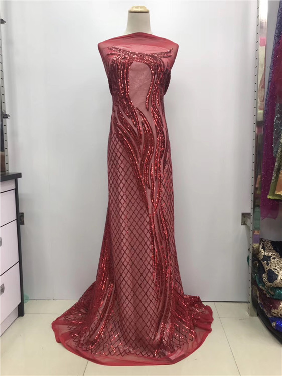French Net Lace Fabric 2018 Latest African Guipure Lace Fabric  With Embroidery Mesh Tulle Sky blue Sequins Lace red wine(JL-12French Net Lace Fabric 2018 Latest African Guipure Lace Fabric  With Embroidery Mesh Tulle Sky blue Sequins Lace red wine(JL-12
