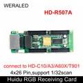 Huidu Volle Farbe Erhalt Karte HD-R507A 4x26 Pins Verwenden für Schmale Pixel Pitch Led-anzeige  arbeit mit Sync HD-T901 Senden Karte
