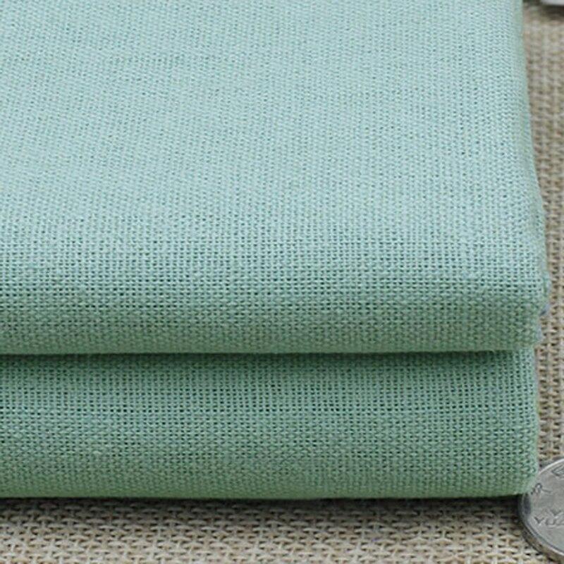 100*140cm Aqua Blue Patchwork Linen Cotton Fabric For Bedding Home textiles