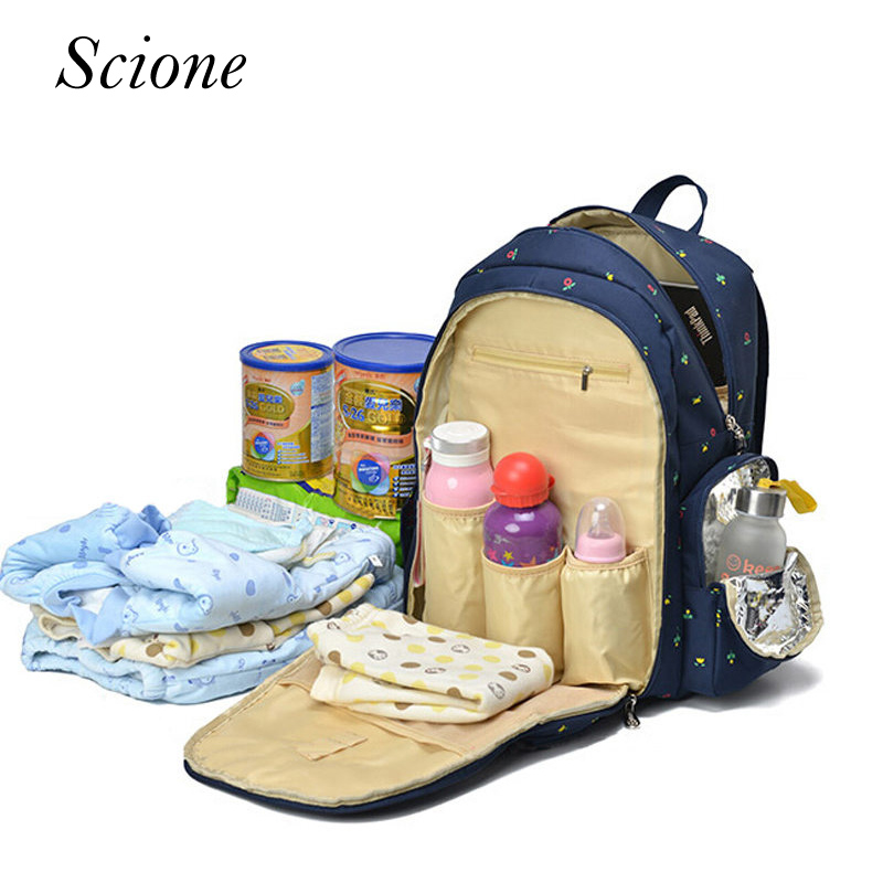 Large Capacity Mother Mummy Mom Baby Bags Nappy Diaper Backpacks For Travel Multifunction Shoulder Bags Rucksack