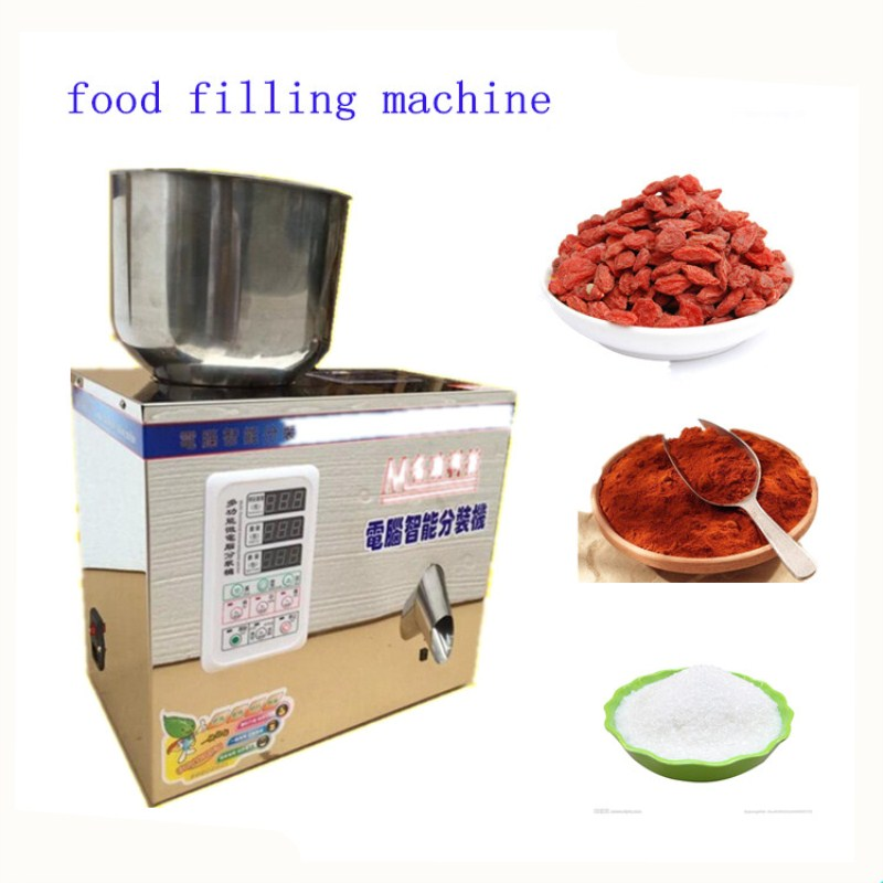 2g-200g food filling machine auto powder filling machine ,particles packaging machine,muti-function racking machine tea powder particles drug quantitative filling machine